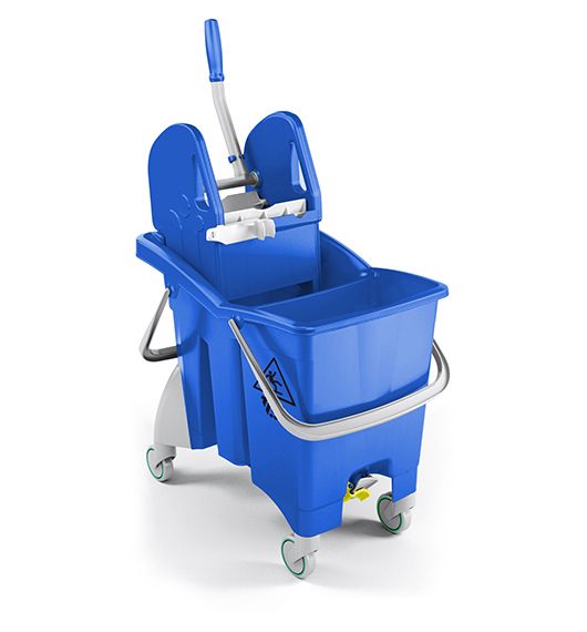 Single Bucket Trolley Partition Action Pro 30L (Blue) supplier in qatar