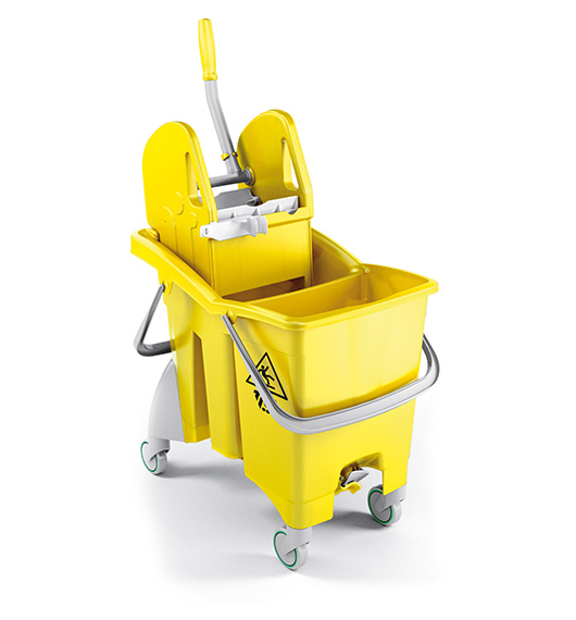 Single Bucket Trolley Partition Action Pro 30L (Yellow) supplier in qatar